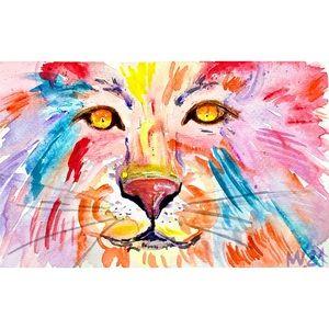 Lion Painting Portrait African Watercolor king art